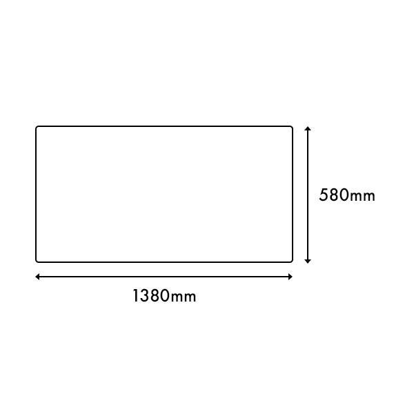 デスクマット再生塩ビ 光沢仕上げ/グレー下敷付(1380×580mm)|soho-st|02