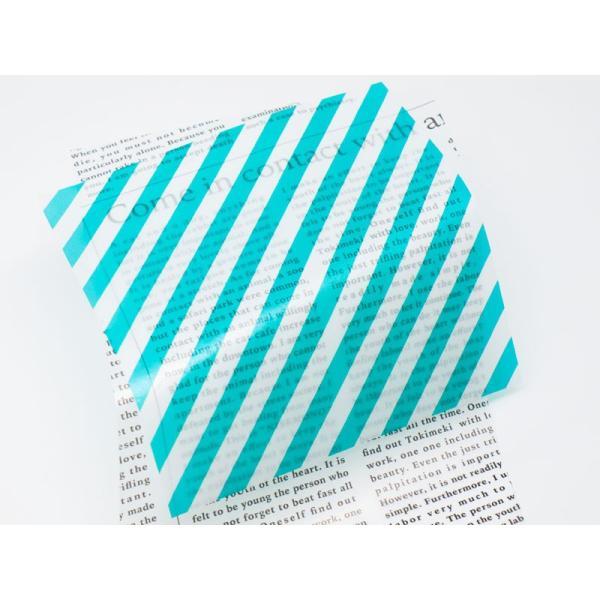 カラーグラシン ストライプ 単色20枚入 折り紙サイズ  半透明ペーパークラフト紙|sokana|04
