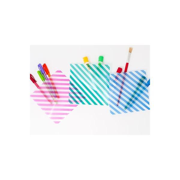 カラーグラシン ストライプ 3色×各20枚入セット カラーグラシンペーパー8色付  折り紙サイズ 半透明ペーパークラフト紙|sokana|02