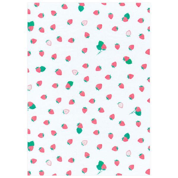 透けるフルーツ柄グラシン紙 A4 かわいい デザインペーパー ラッピング コラージュ デコパージュ いちご レモン さくらんぼ りんご|sokana|06