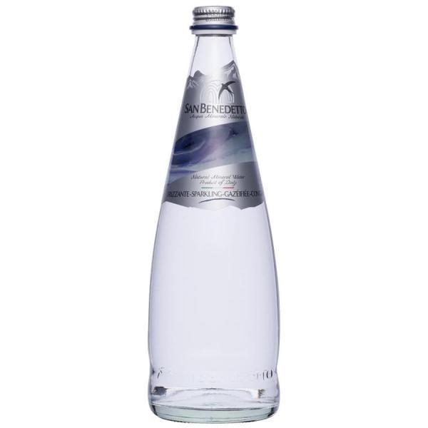 Sanbenedetto サンベネデット スパークリングウォーター グラスボトル 750ml×12本メーカー直送KO  代引き・ラッピング・キャンセル不可