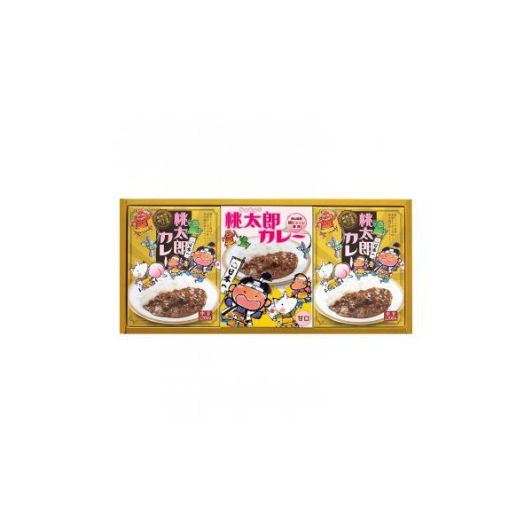 甘口・中辛セット 桃太郎カレー 3P MTB-15メーカー直送KO  代引き・ラッピング・キャンセル不可