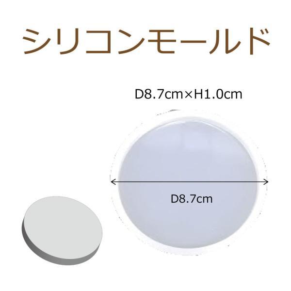 シリコンモールド レジン シリコーン型 丸プレート 1個 80mm×8mm ハンドクラフト 固まるハーバリウム