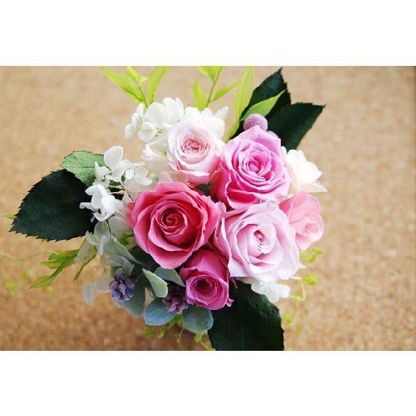 プリザーブドフラワー 結婚祝い 電報 祝電プレゼント 花 クリアケース ボックス candy 送料無料|solargift|02