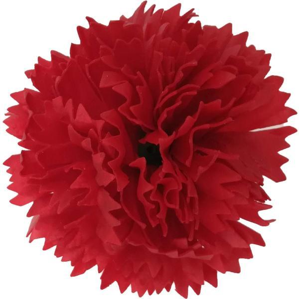 フレグランス ソープフラワー 花材 カーネーション レッド 1輪 石鹸素材のお花 ソープ フラワー