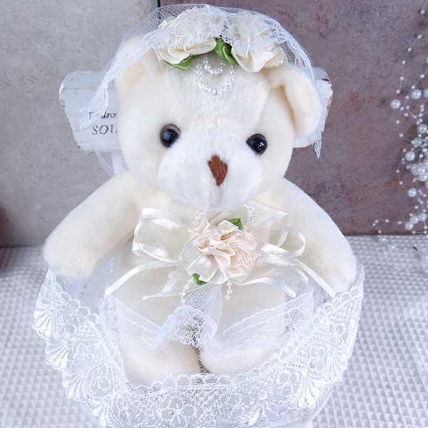 祝電 電報 結婚祝 ウェディングベア Mサイズ ペアセット 結婚式 結婚祝い 電報|solargift|02