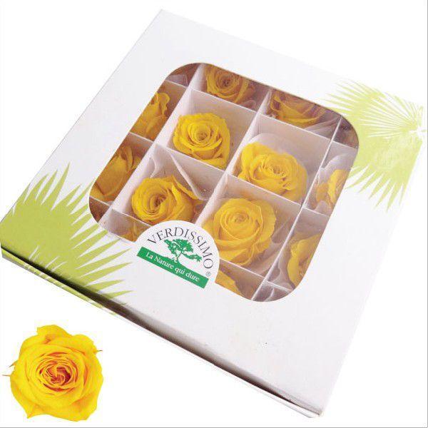 プリンセスローズ サフランイエロー 箱 16輪入 プリザーブドフラワー 材料 花材|solargift|02