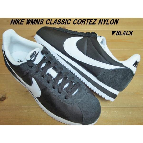 NIKE WMNS CLASSIC CORTEZ NYLON PLATINUM(749864-010)・BLACK(749864-011)・OBSIDIAN(749864-411)ナイキ ウィメンズ クラシック コルテッツ ナイロン