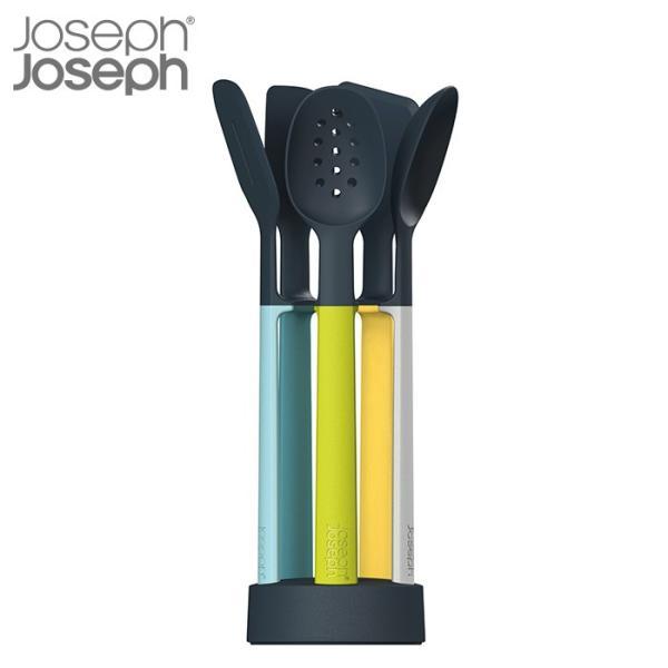 RoomClip商品情報 - ジョセフジョセフ JosephJoseph エレベートシリコン 5ピース キッチンツールセット op オパール | ソフト素材 傷防止