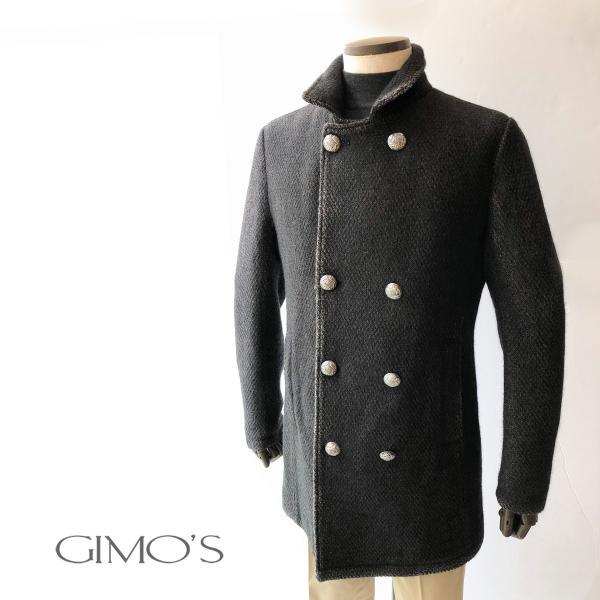 メタルボタンコート ジモス GIMO'S メンズ|solfiglio|03