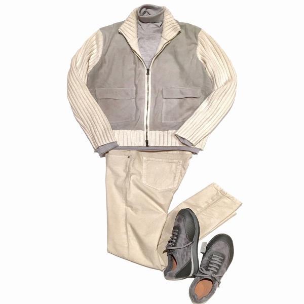 タートルネックセーター ニット メンズ カジュアル ブランド TRICASE トリカーゼ ウール グレー|solfiglio|03