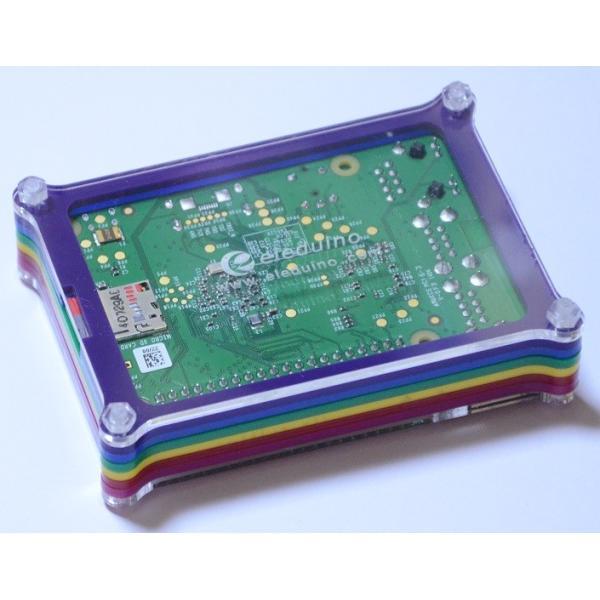 Raspberry Pi B+用ケース(レインボーカラー)組み立てキット 配線しやすいタイプ【今なら特典つき】 solinnovay 02