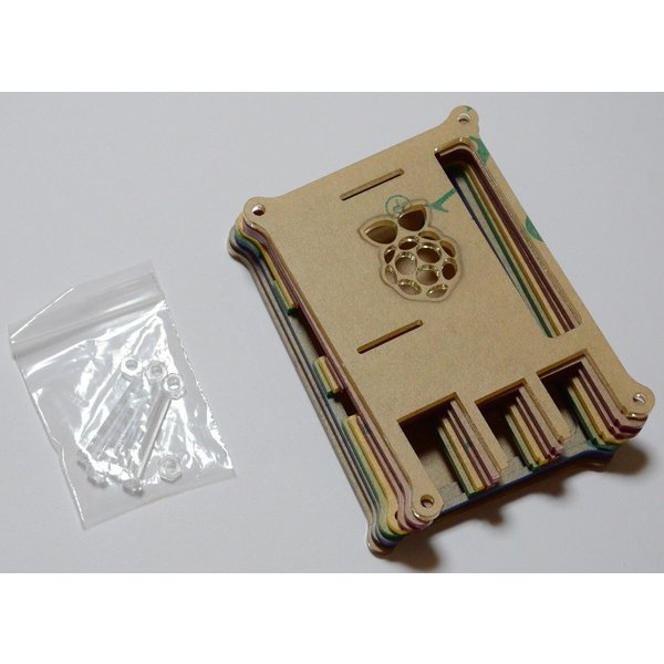 Raspberry Pi B+用ケース(レインボーカラー)組み立てキット 配線しやすいタイプ【今なら特典つき】 solinnovay 03