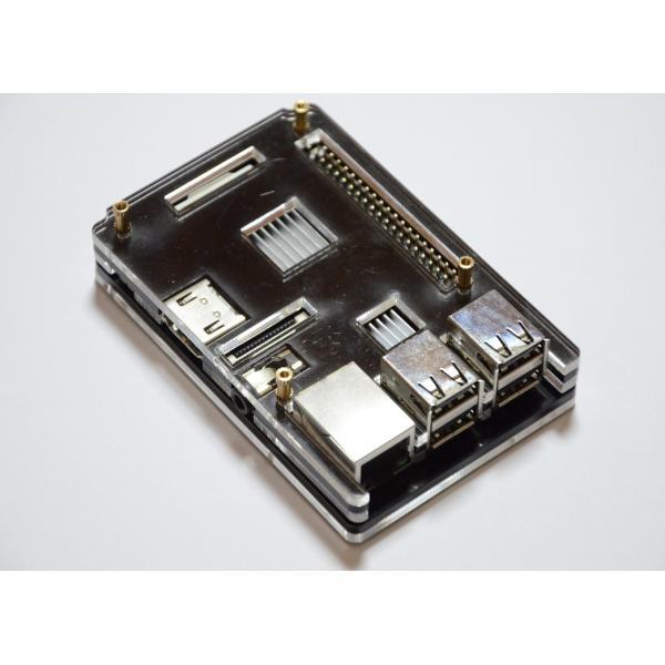 Raspberry Pi 2 model B用 配線しやすい薄型ケース(液晶固定用ネジつき) ブラック|solinnovay|03