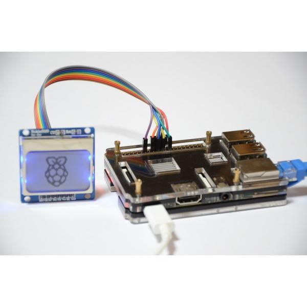 Raspberry Pi 2 model B用 配線しやすい薄型ケース(液晶固定用ネジつき) レッド solinnovay 04