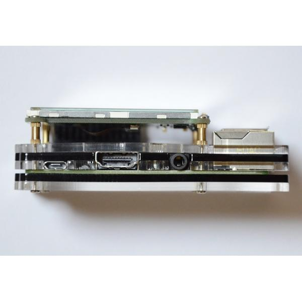 Raspberry Pi 2 model B用 配線しやすい薄型ケース(液晶固定用ネジつき) レッド solinnovay 06