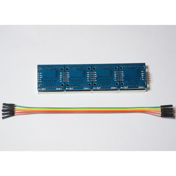 新幹線のアレみたいに… Raspberry Piで作る小型電光掲示板(8X32 ドットマトリクスLED)初心者向け説明書、サポート付 日本語表示もサポート|solinnovay|05