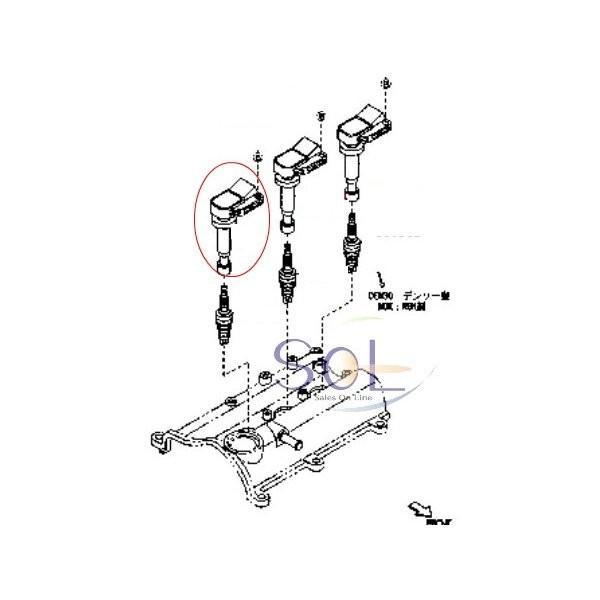ダイハツ タント(L350S L360S) ストーリア(M100S M110S) アトレー(S320G S320W S320V S220V S220G S230V S230G) イグニッションコイル 3本セット 90048-52126|solltd2|02