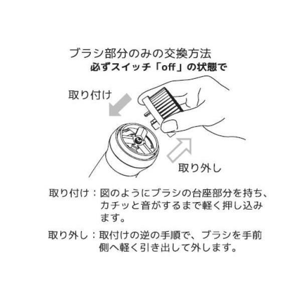 交換用ブラシ 洗顔ブラシアタッチメント用 ソルスティック 毛穴 電動 音波振動 日本製|solstick-shop|03
