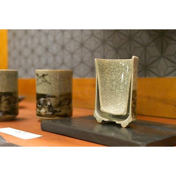 大堀相馬焼 松永窯 二重湯呑み (2.2寸) 陶器 焼き物 名入れ可能 ギフト プレゼントに|soma-yaki|08