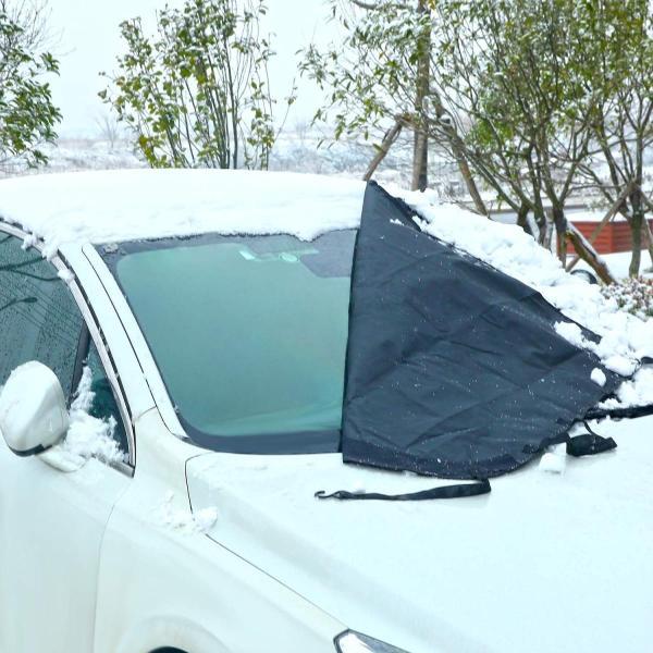Ohuhu 凍結防止カバー ガラス凍結防止 冬 フロントカバー サンシェード 165x112cm フロントガラス カバー 落葉対策 遮光 防|sonanoa