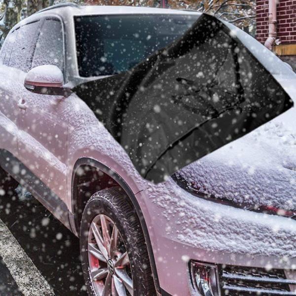 Ohuhu 凍結防止カバー ガラス凍結防止 冬 フロントカバー サンシェード 165x112cm フロントガラス カバー 落葉対策 遮光 防|sonanoa|02