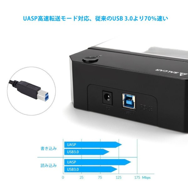 Salcar 高速USB3.0 3.5インチ 外付け HDD/SSD ケース UASP高速転送 SATAI/II/III対応 6TB 高放熱 sonanoa