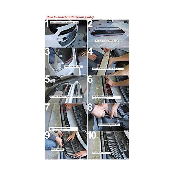 送料無料 M&S Front Grill Hood Radiator Grill UNPAINTED 1-pc