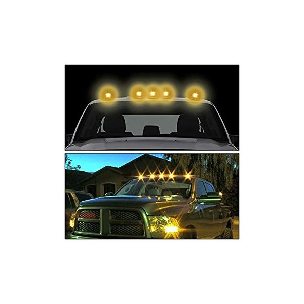 Cab Side Roof Mount Spotlight 100W Halogen 6 Inch Passenger Side with Install Kit -Black Larson Electronics 0909P4SOZCY 2008 Freightliner Business Class M2 Ext