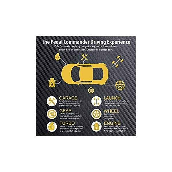 Pedal Commander Throttle Response Controller PC63 Bluetooth for Subaru BRZ 2012 and newer Fits All Trim Levels; Premium, Limited, tS, Series