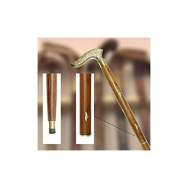 送料無料 WhopperIndia Handmade Folding Walking Cane/Rule with Round Brass Tip (|sonanoa|06