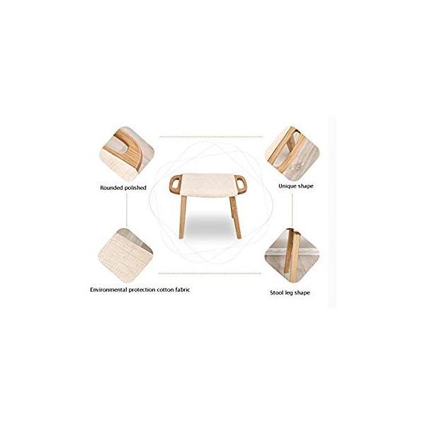 送料無料 ye Solid Wood Dressing Stool Oak Furniture Small Apartment Makeup Stoo|sonanoa