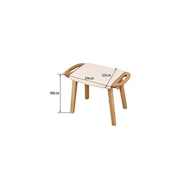 送料無料 ye Solid Wood Dressing Stool Oak Furniture Small Apartment Makeup Stoo|sonanoa|02