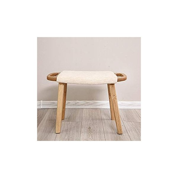 送料無料 ye Solid Wood Dressing Stool Oak Furniture Small Apartment Makeup Stoo|sonanoa|06