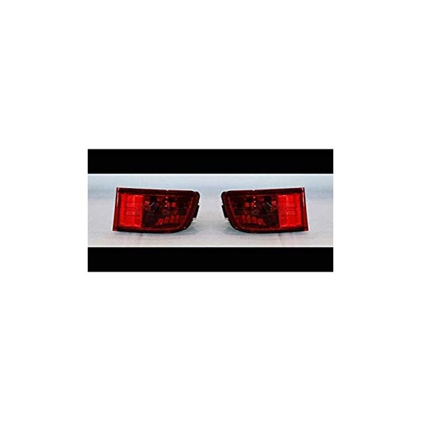 Replaces 81580-60111 ; Fits 2003-2005 Toyota 4RUNNER Passenger Side Rear Bumper Reflector NSF Certified With Bulbs Included TO1185101