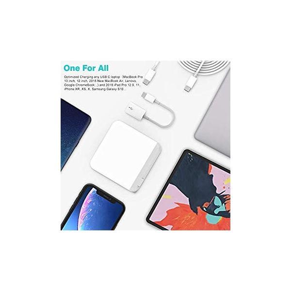 送料無料 Air USB C MacBook Charger Pro for MacBook Pro 2018
