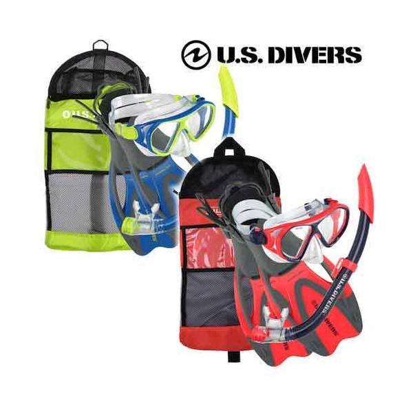 U.S.DIVERS(ユーエスダイバーズ) ドラド2ジュニア 4点セット(マスク+スノーケル+フィン+バッグ)