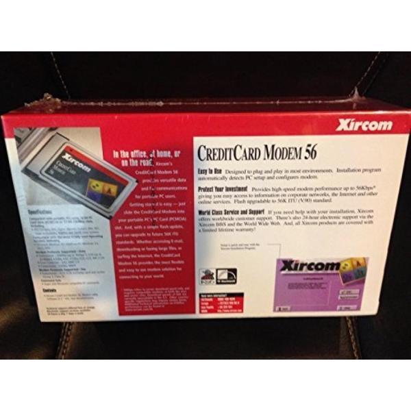 モデム Xircom Creditcard Laptop Modem 56K PCMCIA Modem with RJ-11 Connector Cable sonicmarin 03