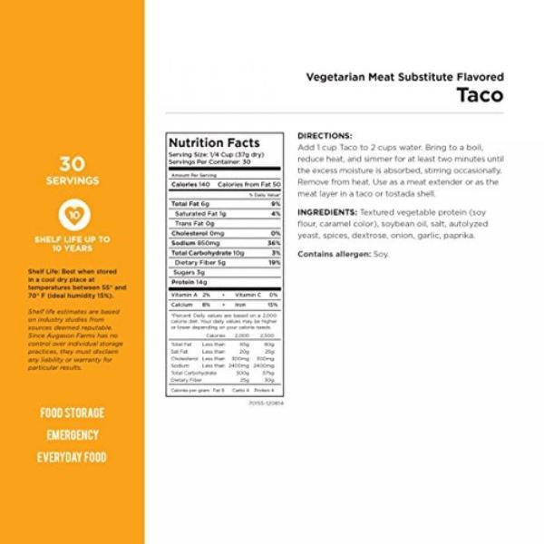 サバイバル用品 Augason Farms Vegetarian Meat Substitute Variety Kit No. 10 Can 6-Pack|sonicmarin|03