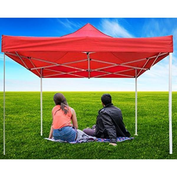 テント New Leaf 10x10 Easy Pop Up Tent Instant Shelter (Red) sonicmarin 03