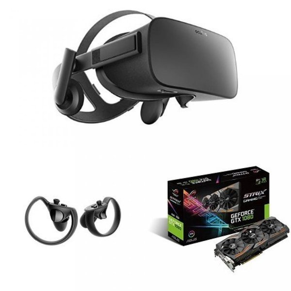 ヘッドセット ASUS GeForce GTX 1080 8GB ROG STRIX Graphics Card (STRIX-GTX1080-A8G-GAMING) & Oculus Rift + Touch Virtual Reality Bundle|sonicmarin