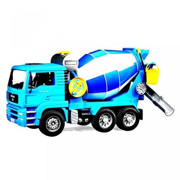 幼児用おもちゃ Kids Car Toy Truck Vehicle MAN Cement Mixer With Realistic Turning Mixing Barrel Water Tank Adjustable - Skroutz sonicmarin