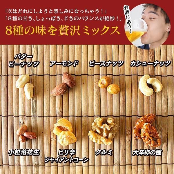 お酒を飲む人の為の8種のおつまみナッツ 400g (200g×2袋) ポイント消化|sonique|02