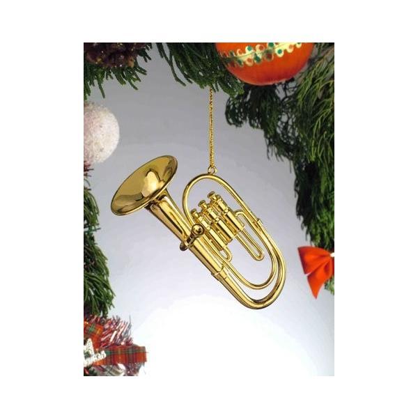 ゴールド真鍮チューバミニチュア音楽楽器クリスマスツリーオーナメント