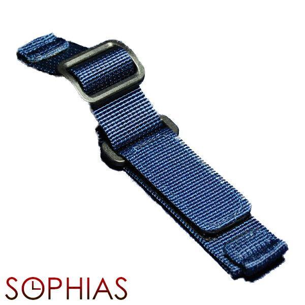 腕時計替えベルト ナイロンベルト マジックテープ式 ブルー/20mm幅