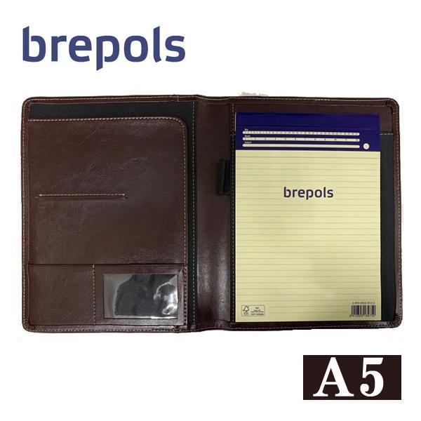 BREPOLS ブレポルス パレルモ ライティングパッド A5 ダークブラウン レポートパッドホルダー レポートカバー