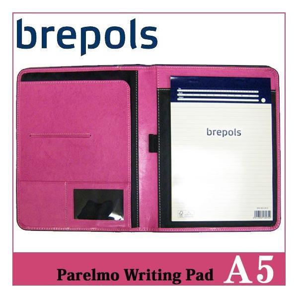 BREPOLS ブレポルス パレルモ ライティングパッド A5 ピンク レポートパッドホルダー レポートカバー