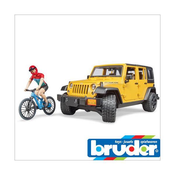 bruder ブルーダー プロシリーズ 02543 ジープルビコン&マウンテンバイク(フィギュア付き) Jeep Rubicon 1/16