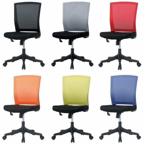 期間限定価格 オフィスチェア 6色 肘なし メッシュチェア デスクチェア 椅子 イス いす 事務椅子 オフィス家具|sora-ichiban|02