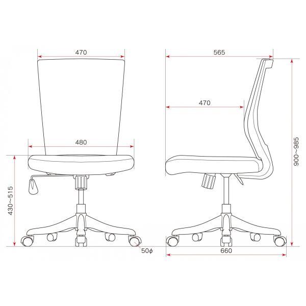 期間限定価格 オフィスチェア 6色 肘なし メッシュチェア デスクチェア 椅子 イス いす 事務椅子 オフィス家具|sora-ichiban|03